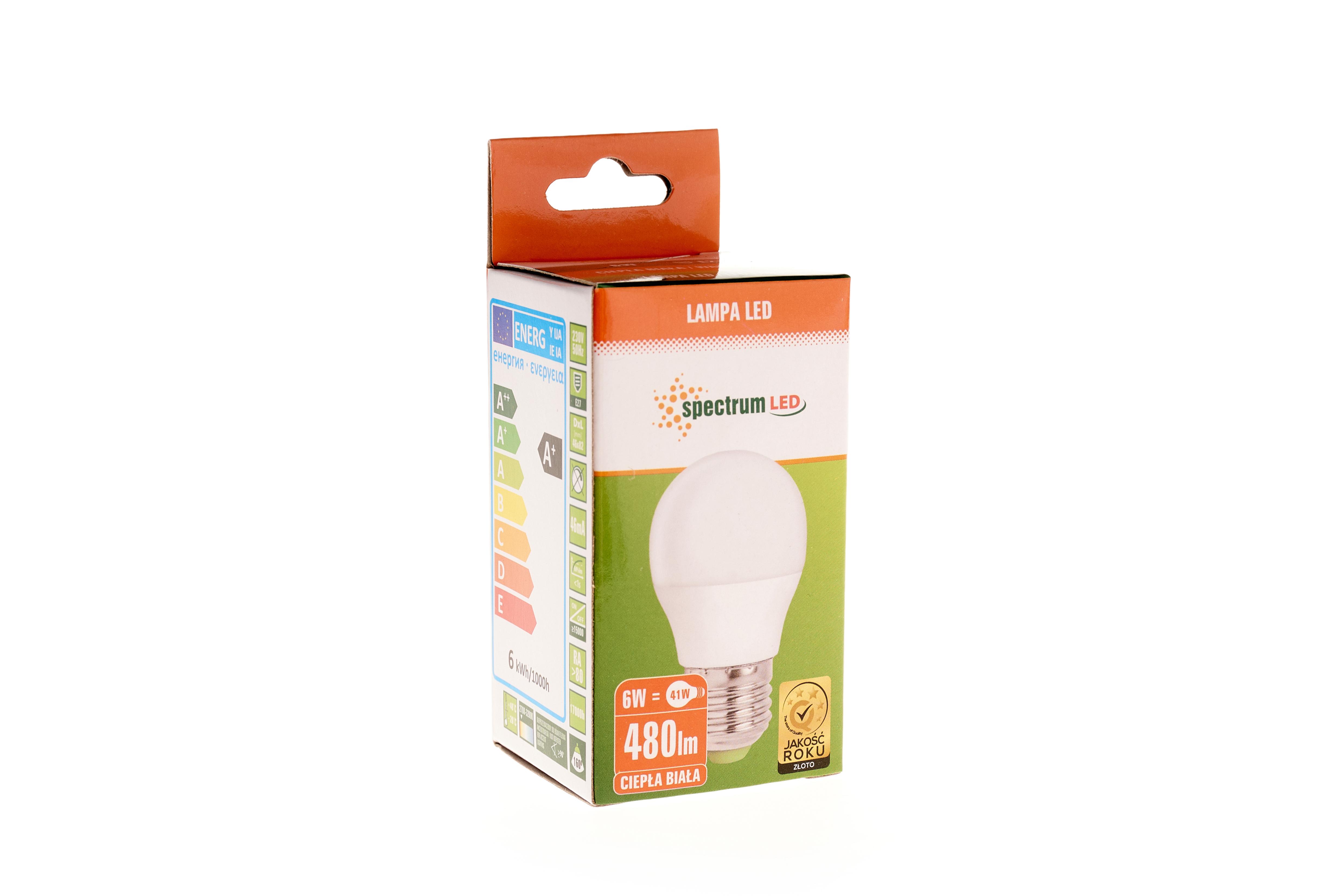 BEC LED B45 E27 6W 480lm lumina calda [0]